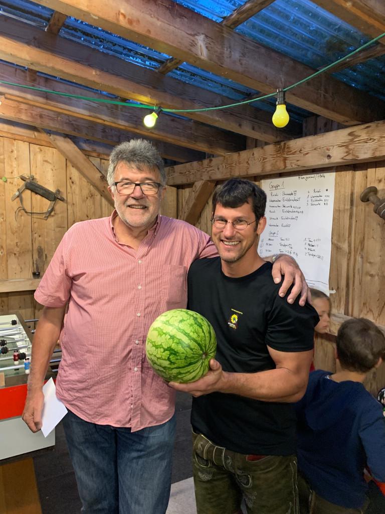 """Team """"Wassermelone"""" August Groh(SPD) und Dominik Rutz(Bündnis 90/die Grünen)"""