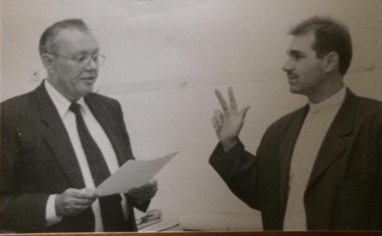 Michael Paulinis Vereidigung am 19.07.1989